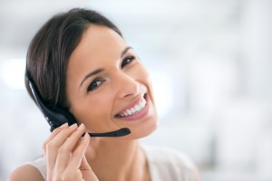 call recording service woman with headset